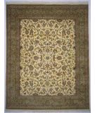 RugStudio presents Lotfy and Sons Narmada 320 Ivory/Light Green Hand-Knotted, Best Quality Area Rug